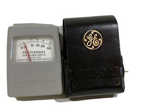 Vintage GE General Electric Light Footcandle Exposure Meter Type 213 Hectolux