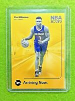 ZION WILLIAMSON ROOKIE CARD JERSEY #1 PELICANS RC 2019-20 Panini Hoops INSERT rc