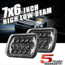 "105W 7X6"" 5X7"" CREE LED Headlight Pair DRL 5D For Chevrolet Jeep Cherokee XJ USA"