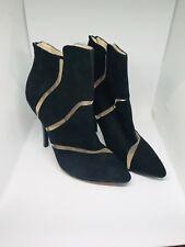 Black suede Mireille booties, size 9M
