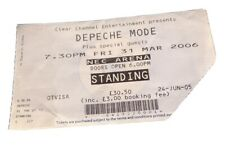 DEPECHE MODE TICKET 'Touring The Angel' Birmingham NEC 3 March 2006 UK Seller