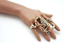 Damen Ring Zwei Finger Kostüm Mode Elegant Schmuck Gold Metall Skorpion Hip Hop