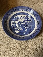 ROYAL WESSEX CHURCHILL BLUE WILLOW ROUND SERVING BOWL FINE ENGLISH TABLEWARE