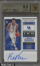 2018-19 Panini Contenders College Ticket Kevin Knox RC Rookie AUTO BGS 9.5