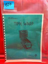 Time Warp Pinball Operations/Service/Repair /Troubleshooting Manual Williams G29