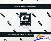 2019 Donruss Football Factory Sealed JUMBO FAT Pack Box-360 Cards! 48 Parallels!