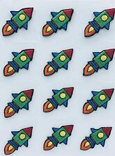 New listing Trimplace Rocket Ship Press-On Applique- 3/4 inch x 1-1/4 inch - 12 Pieces