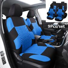 9Pcs/set Tyres Imprint Embroidery Car Seat Covers For Auto Interior Accessories