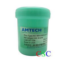 100g AMTECH NC-559-ASM-UV Reballing Flux Paste TPF Flux Anti-wet BGA Rework New