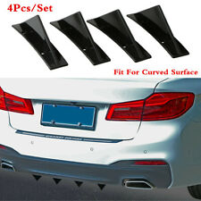 4Pcs/Set ABS Triangle Spoiler Fit For Curved Surface Back Bumper Wrap Lower Lip