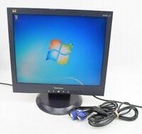 "ViewSonic VA705b 17"" LCD Flat Panel Monitor Display VGA w/ Cords Grade B"