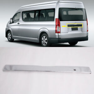 For Toyota HiAce H300 2019 2020 2021 Chrome Rear Trunk Lid Center Cover Trim 1pc