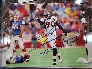 Denver Broncos Neil Smith Signed 8x10 Photo Auto JSA Certified Nebraska