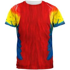 40bea4ad1f0434 Halloween Scarlet Macaw Parrot Feathers Costume All Over Adult T-shirt 2x