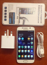 Samsung Galaxy S6 SM-G920F Pearl White 32GB Unlocked **Excellent Condition**