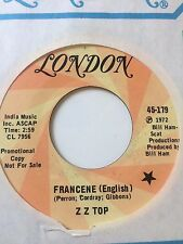 "ZZ TOP PROMO 45/  ""FRANCENE (ENGLISH & SPANISH)   NEAR MINT  HEAR!"