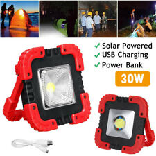 Solar LED COB Work Light Outdoor Camping Emergency Flood Lamp USB Rechargeable
