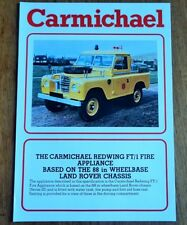 Carmichael Land Rover Redwing FT/1 Fire Engine Appliance 88 Brochure