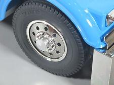 Pair Aluminum Front Hubs Wheel Rim Lock Nut Tamiya 1/14 R/C Semi King Hauler