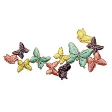 ID 2007 Cluster of Butterfly Insect Embroidered Iron On Applique Patch