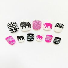 2016 For Kids Girls Cute French False  Nails Art Elephant & Totem Full Stickers