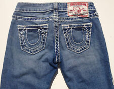 True Religion 'JOHNNY SUPER T' Indigo Jeans 25 EUC RRP $499 Womens