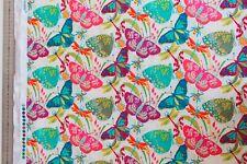 Stoff Meterware Patchwork Windham Fabrics Schmetterlinge Butterfly bunt 25 cm