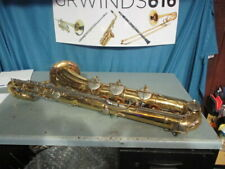 Conn baritone saxophone range to low a