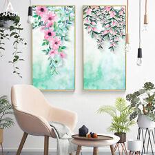 Flower Garden Decoration Idyllic Flower Canvas Print Wall Art Green Plant Poster