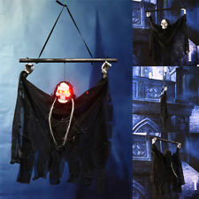 Voice Activated Halloween Props Party Hanging Skull Skeleton Ghost Sound Effects