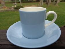 WEDGWOOD SUMMER SKY BLUE ESPRESSO CUP AND SAUCER MAD IN ENGLAND