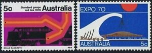 1970 Australian MUH Assorted Year Set of 7 Stamps - Fifth Decimal series issues