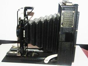 Antique 1925 Voightlander Vag Fold Out Extension Camera Ibsor shutter w/adaptor