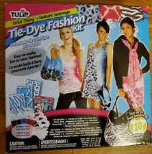 Tulip Tie Dye Fashion Kit Stencil T-shirt Tops Bags Crafts Accessories Projects