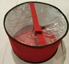 Large hat box Red with Black trim