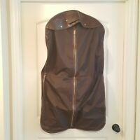 Vintage Sears Garment Bag Brown Tan Suit Carrier VTG