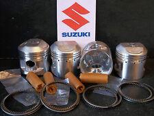 SUZUKI GS550 GS550E GS550L PISTON KITS (4) NEW +0.5mm OVERSIZE = 56.5mm