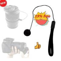 1x Anti-Lost Lens Cover Cap Keeper Holder Rope Hanging Cord Camera Black
