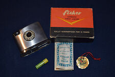 Vintage Fisher Automatic Table Lighter in box with documents.