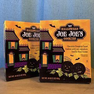 2X Trader Joe'sHalloweenJoe Joes Chocolate Pumpkin Faced Vanilla Cream Cookies
