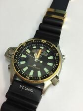 Citizen DIVER'S Quarzo Uomo Watch Aqualand GOLD & STEEL Promaster Cinturino