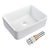 Vessel Sink Rectangle Porcelain