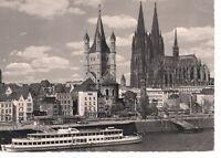AK Ansichtskarte Köln am Rhein / Rheinufer mit Dom und Groß-St.-Martin 1966
