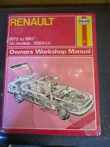 682 Haynes Manual Renault 30 2664cc 1975-1981