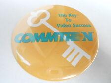 """VINTAGE 3"""" PINBACK BUTTON #56- 004 - COMMTRON - VIDEO SUCCESS"""