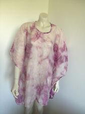 Pink Creme Kimono Sleeve Beachwear Blouse Size 18 ?