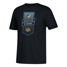 "Houston Dynamo MLS Adidas Men's ""Club Banner"" Team Logo Black T-Shirt"