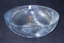 "HOLMEGAARD Art GLASS Clear Ribbed Bowl 11"" Diameter JORGENSEN Denmark"