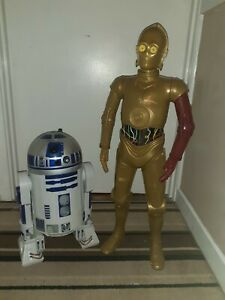 Star Wars , Jakks Pacific Big Figs, 31 inch c3po and 18 inch r2d2