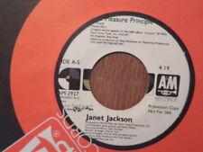 PROMO A & M 45 RECORD/JANET JACKSON/THE PLEASURE PRINCIPAL/ NR MINT